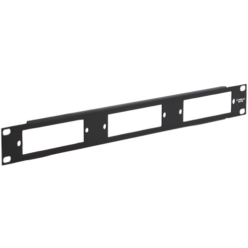 Configurable Fiber Optic Blank Patch Panel for Three Adapter Panels or MPO Cassettes