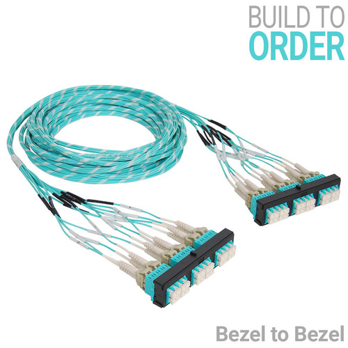 Pre-terminated Fiber Optic LC Patch Panel - Bezel to Bezel