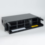Fiber Optic Empty Rack Mount Enclosure HD 8 Adapter Panel Spaces No Front Cover
