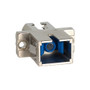 LC to SC Fiber Optic SC Mount with Simplex Adapter in Metal Cable with Ceramic Sleeve