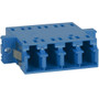 LC to LC Fiber Optic SC Mount with Quad Adapter in Blue Ceramic Sleeve