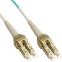 LC Uniboot Fiber Optic Patch Cord with Duplex 10 Gb Multimode OM3 Aqua Cable