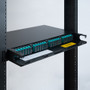 SC-SC Fiber Optic Rack Mount Enclosure Pre-configured with 4 HD Adapter Panels with 48 10G Aqua Fibers