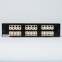 LC-LC Fiber Optic LGX Adapter Panel with Beige Multimode Adapters for 24 Fibers