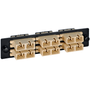 SC to SC Fiber Optic LGX Adapter Panel with Beige Multimode Adapters for 12 Fibers