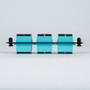 SC-SC Fiber Optic LGX Adapter Panel with Aqua Multimode Adapters for 12 10G Fibers