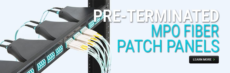 Pre-Terminated MPO Fiber Patch Panels