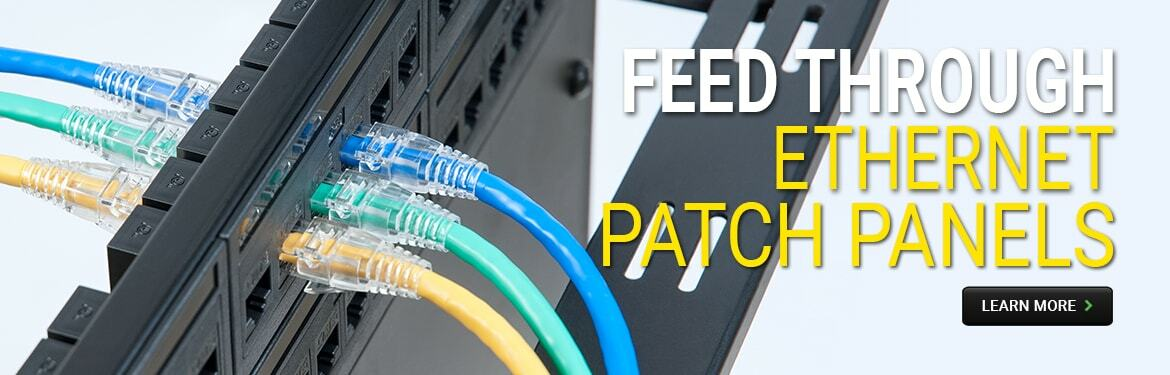 Feed Through Ethernet Patch Panels