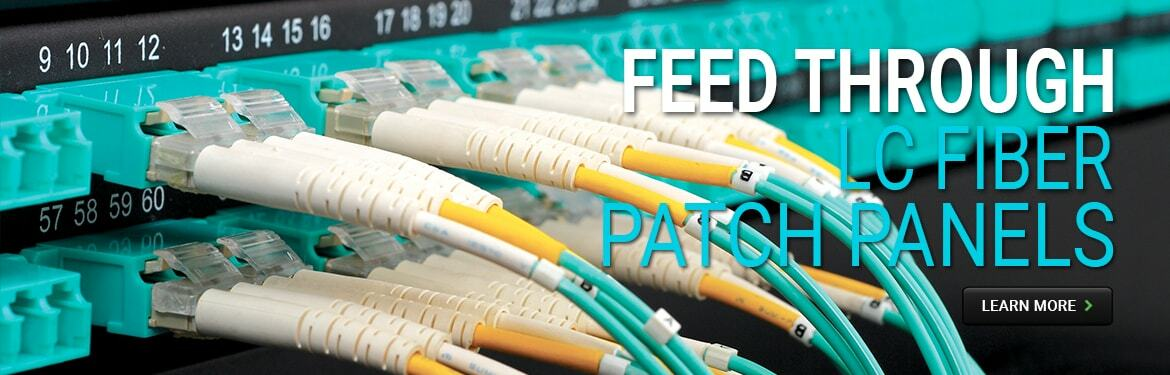 Feed Through LC Fiber Patch Panels