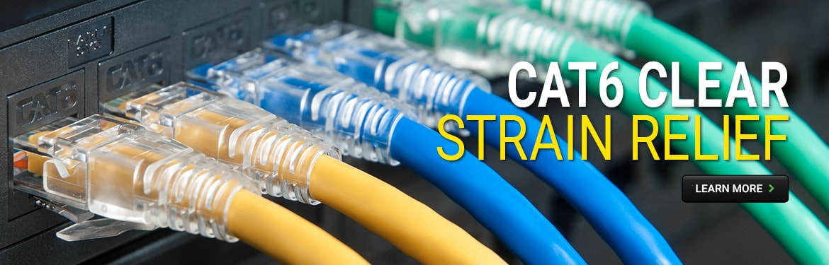 CAT6 Clear Strain Relief