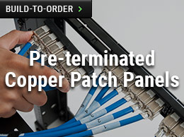 Pre-terminated Copper Patch Panels