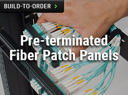 Pre-terminated Fiber Patch Panels