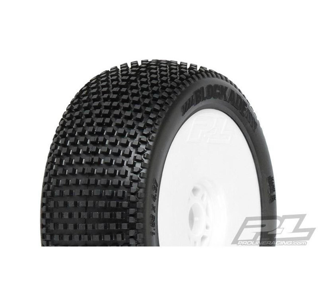 Pro-line 1/8th Buggy Tyres, 1 Pair - Mounted - Blockade - S3