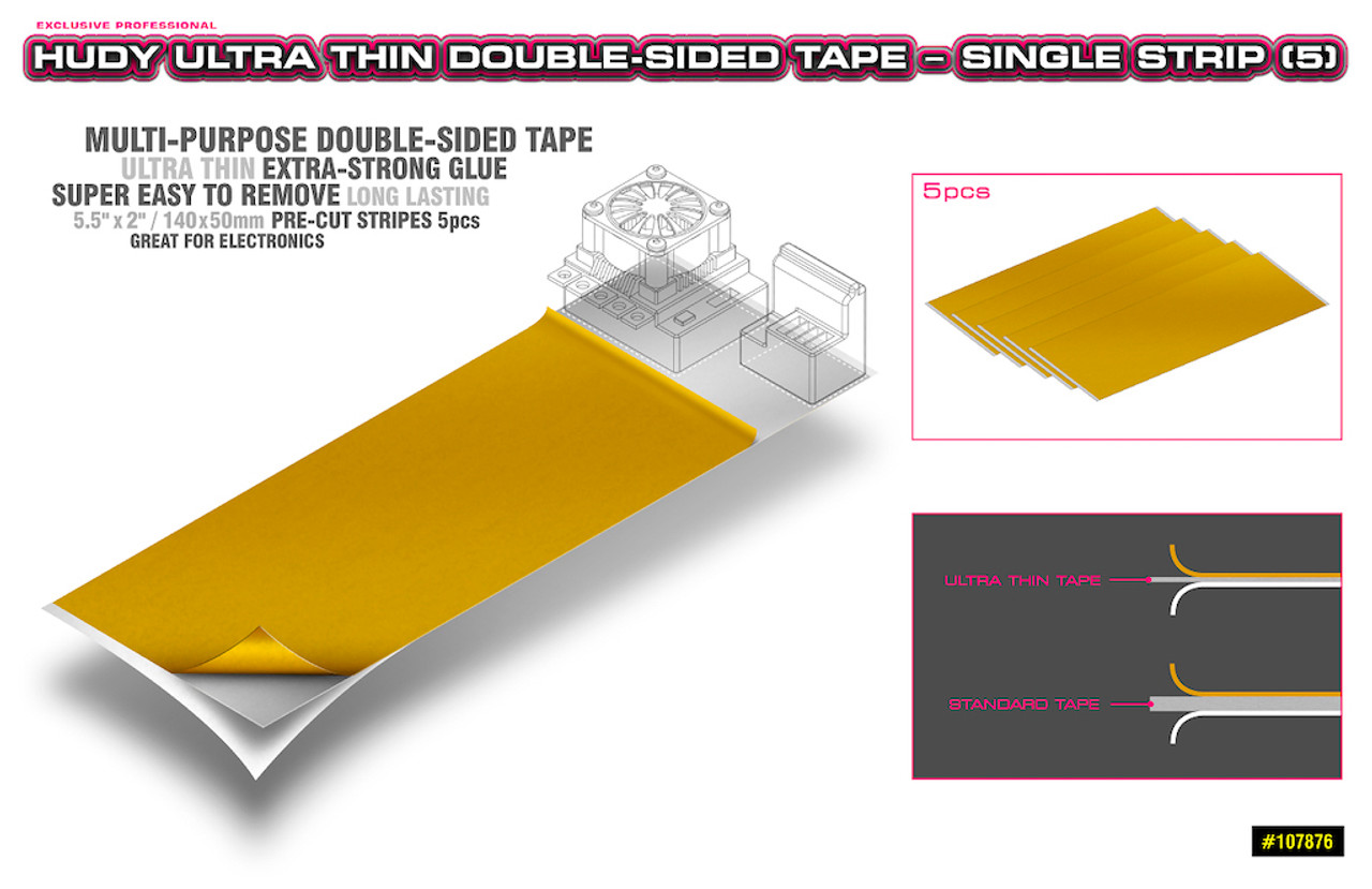 Hudy Ultra Thin Double Sided Tape - 5 Strips
