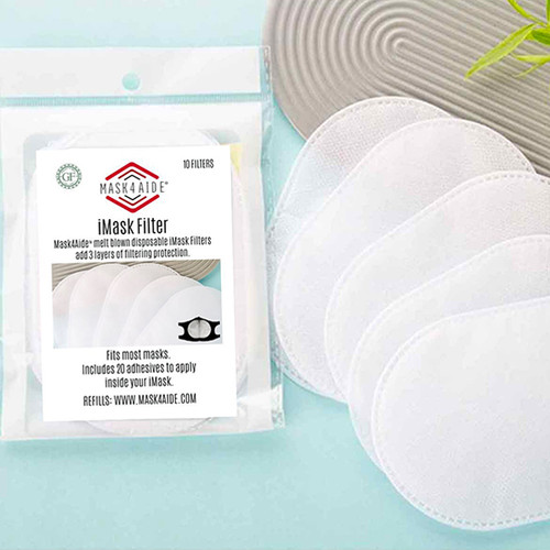 Mask4Aide™ Disposable Face Mask Filters 10-Pack