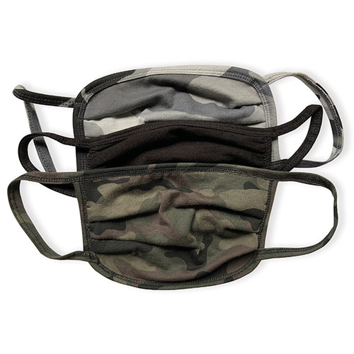 Cotton Face Mask 3-Pack - Camo