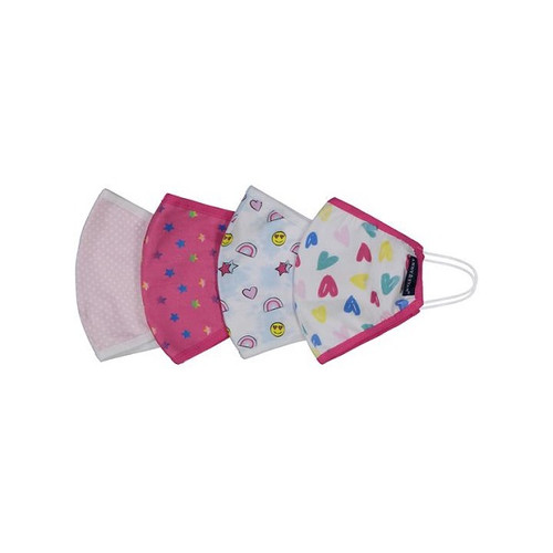 Girls' 4-Pack Face Mask (Size 2T-6)