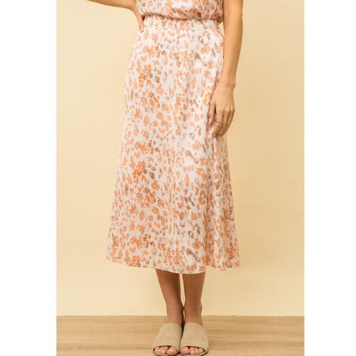 Women's Mystree Leopard Bias Skirt