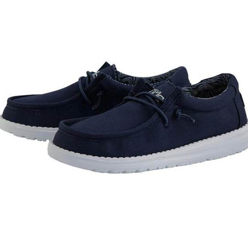 Youth Wally Shoes - Navy