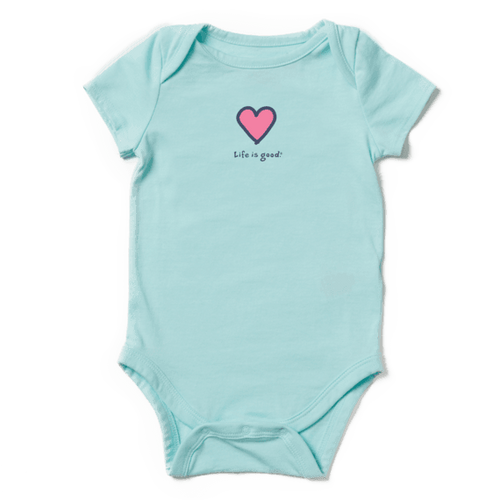 Infant Girls' Vintage Crusher Heart Bodysuit