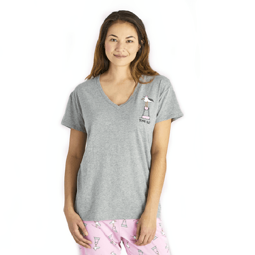 Women's Time Out Gull Snuggle Up Sleep Vee Tee