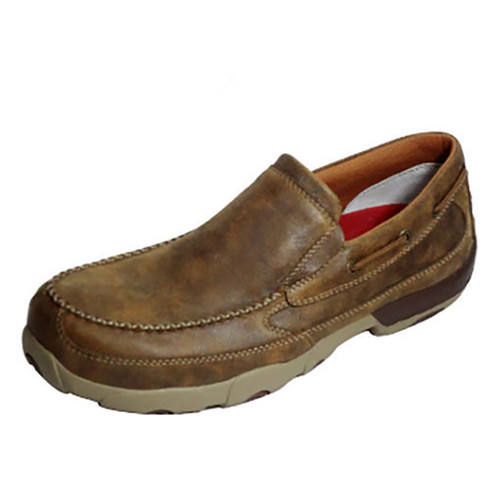 Men's Driving Moc Slip-On Composite Toe