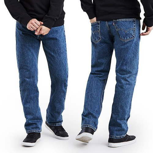 Men's Levi's 505 Regular Fit Jean - Medium Stone Washed