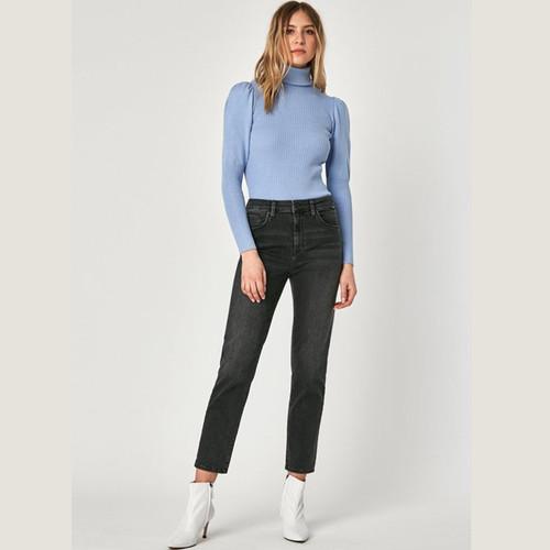 Women's Lea Dark Grey Vintage Crop Jean