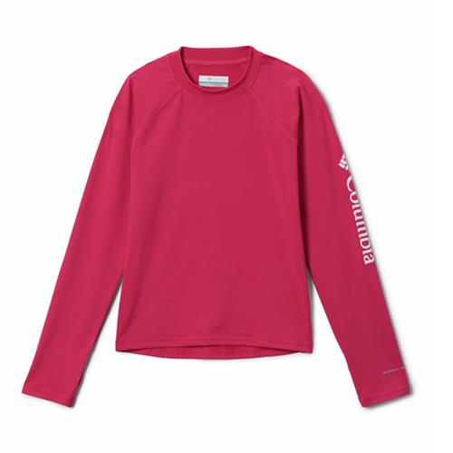 Toddler Girls' Sandy Shores™ Long Sleeve Sunguard 612CactusPink Front