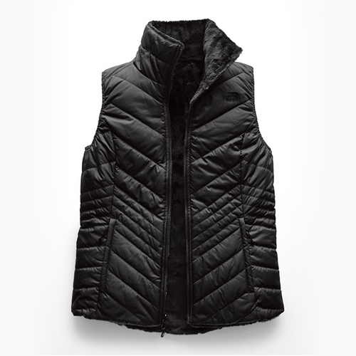 Women's The North Face Mossbud Insulated Reversible Black Vest -Past Season