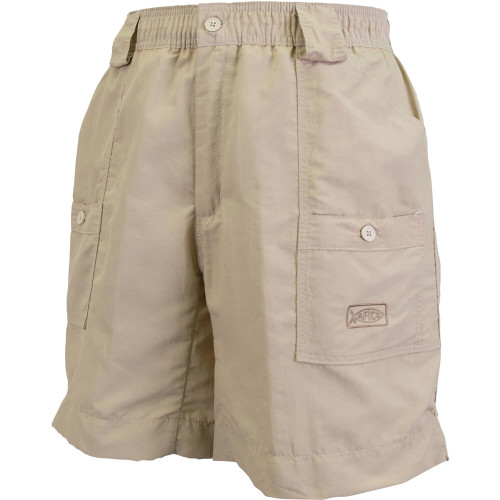 "Men's Aftco® 8"" The Original Fishing Short® Long Khaki Front"