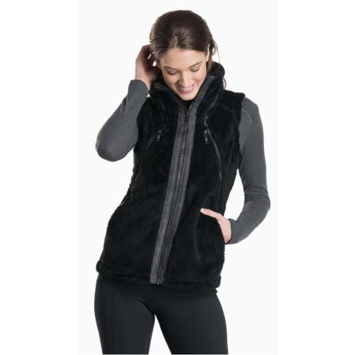 Women's Kuhl Fleece Flight Vest -Black