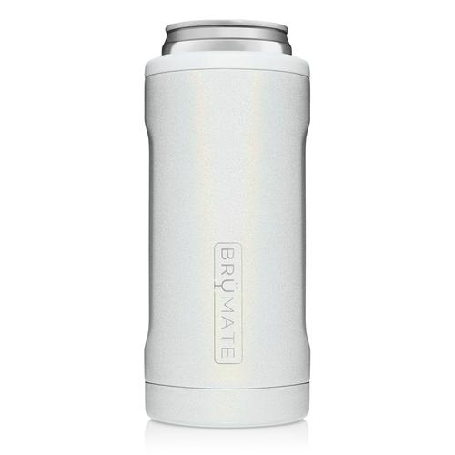 Slim Can-Cooler in Glitter White