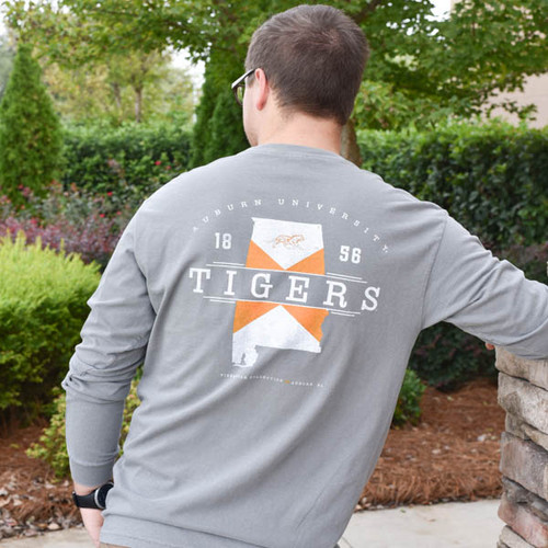 Tigerwear Men's Long Sleeve New State Design -Auburn