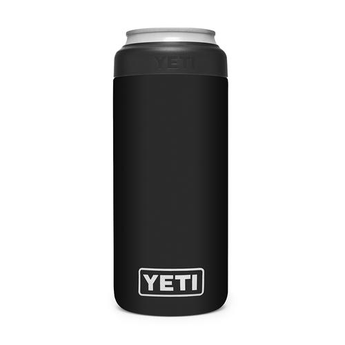 Yeti Rambler 12 oz Colster Slim Can Insulator Black Front