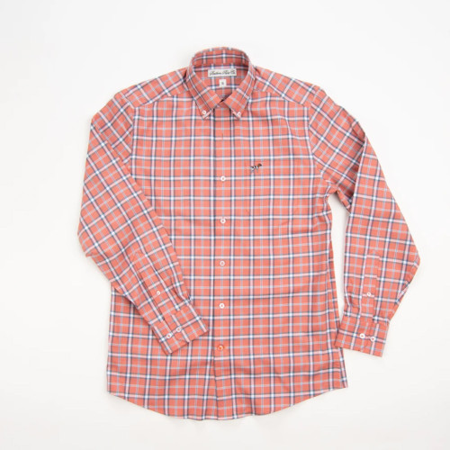 Boy's Southern Point Dark Salmon Stretch Hadley Button Down Front