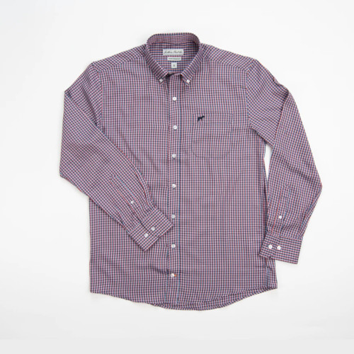 Boys' Southern Point Granite Bamboo Check Button Down Front