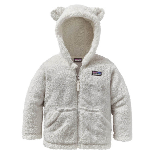 Infant/Toddler Girls' Patagonia Baby Furry Friends Hood  White Jacket