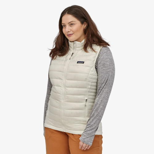 Women Wearing Patagonia Birch White Down Sweater Vest
