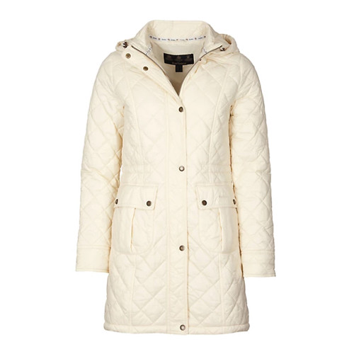 Women's Barbour Cream White Pearl Jenkins Quilted Jacket