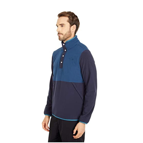 Men's The North Face Mountain Sweatshirt Pullover Blue Wing Teal/Aviator Navy Side