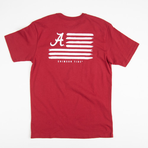 Men's Southern Tide Alabama Americana School  Collegiate T-Shirt Back
