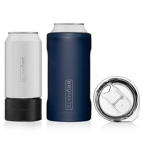 BruMate Hopsulator Trio 3-in-1 Insulated Can Coolers - Matte Navy