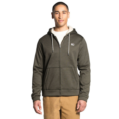 Men's The North Face Sherpa Patrol Full Zip Hoodie New Taupe Green