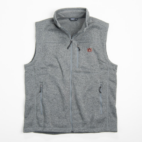 Men's Tigerwear Auburn University Everyday Fleece Vest Grey