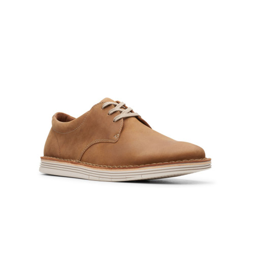 Men's Clarks Forge Vibe Leather Shoe -Tan