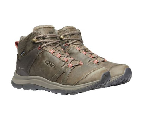 Women's Keen Brindle Redwood Terradora II Leather Mid Waterproof Boot Double