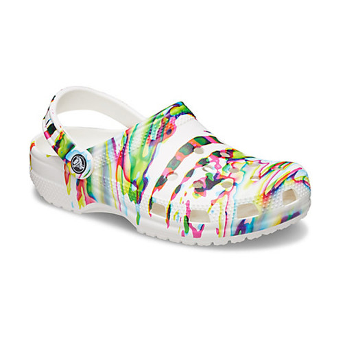 Women's Crocs White Paint Splatter Out of This World Clog