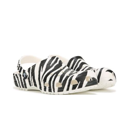 Women's Crocs Classic Animal Zebra Print Clog