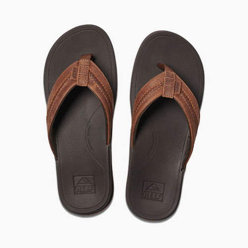 Men's Reef Leather Ortho-Bounce Coast Flip Flop